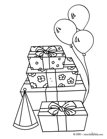 364x470 Birthday Present Coloring Pages Color Bros