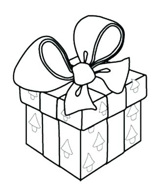 339x400 Birthday Presents Coloring Pages Gift Page Present Tree With Gifts
