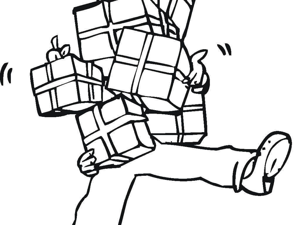 1003x768 Full Hands Of Presents Coloring Page Free Printable Kids Christmas