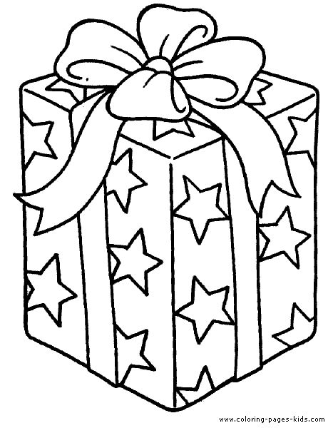 460x600 Present Coloring Page