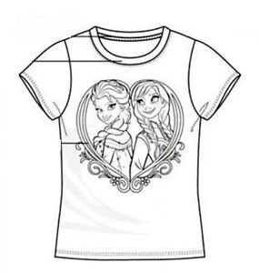 285x300 Sale Colour Your Own Frozen Elsa And Anna T Shirt Birthday Present