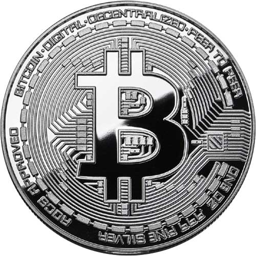 500x500 1 Oz Proof Silver Bitcoin Commemorative Round Jm