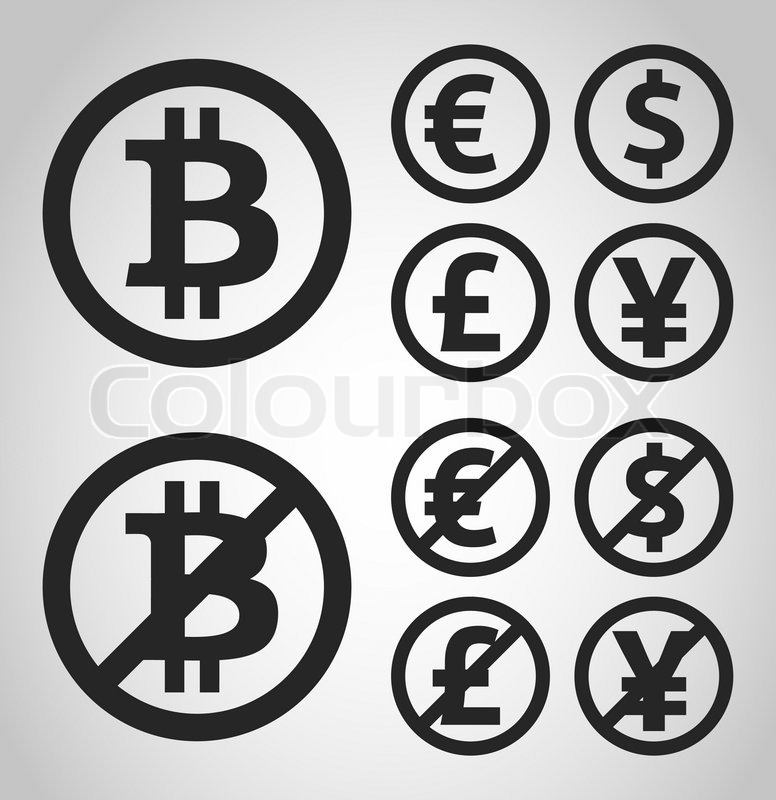 776x800 Bitcoin, Euro, Dollar, Font And Yen Money Icons Set On Light