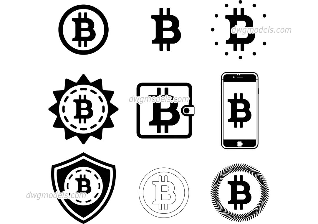 1080x760 Bitcoin Free Vector Logos, Autocad File Download, Dwg Format