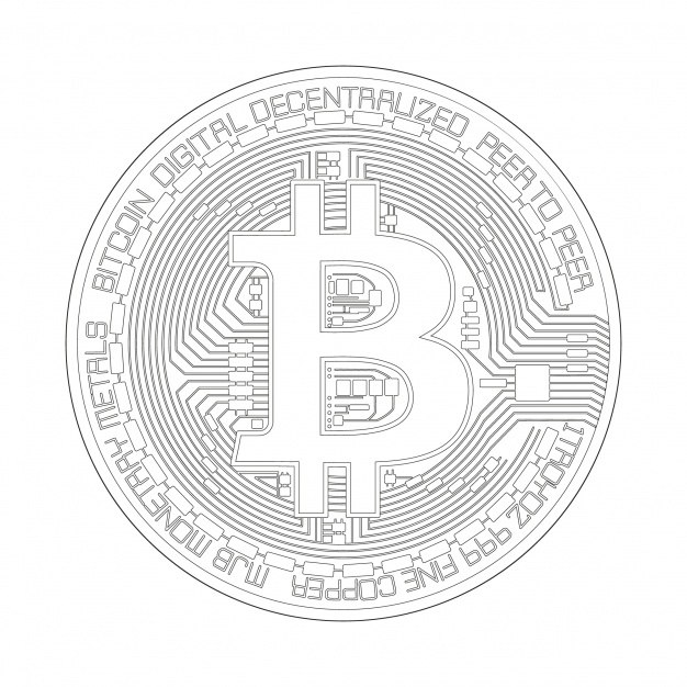 626x626 Bitcoin White Design Vector Premium Download