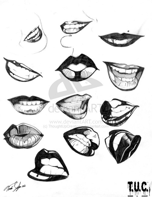 500x649 Kiss My Lips By Thoughtupcreations How To Draw Lips