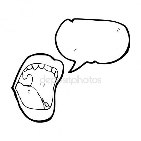 450x450 Mouth Biting Lower Lip Stock Vector Lineartestpilot