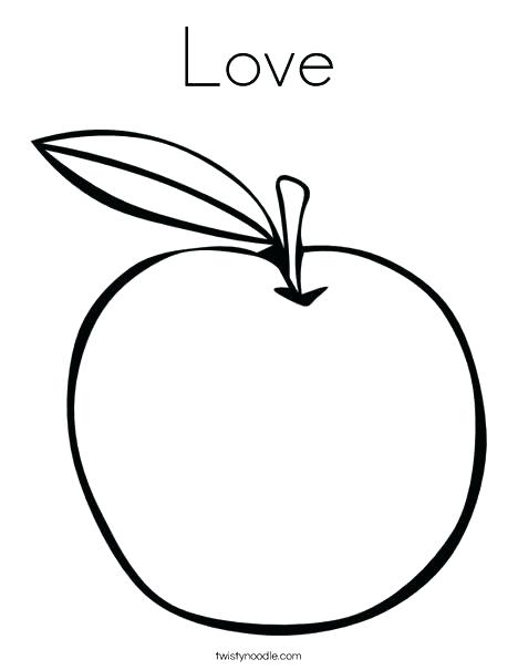 468x605 Apple Coloring Page Bitten Apple With Leaf Coloring Page Apple