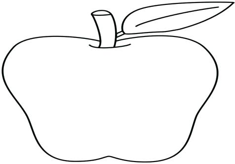 476x333 Apple Coloring Page Coloring Page Of An Apple Coloring Page Apple
