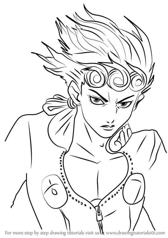 566x800 Learn How To Draw Giorno Giovanna From Jojo's Bizarre Adventure