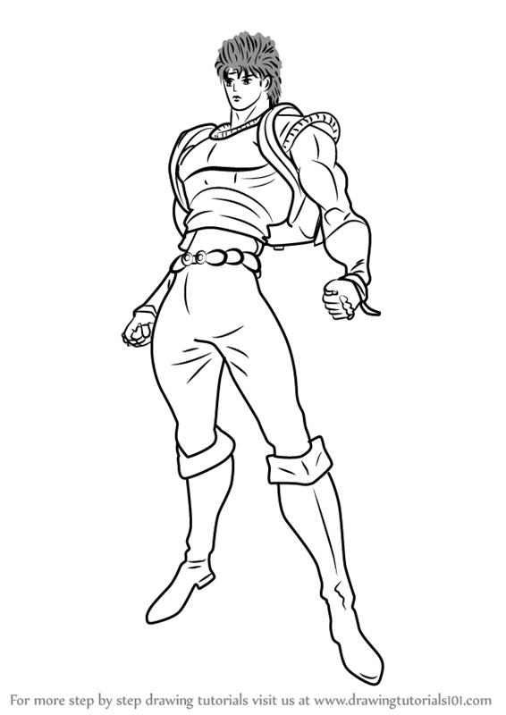 566x800 Learn How To Draw Jonathan Joestar From Jojo's Bizarre Adventure