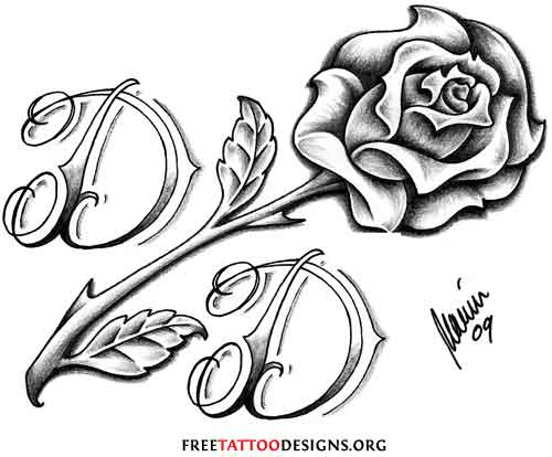 Black And Grey Roses Drawing
