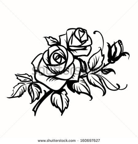 450x470 Drawn Rose Rose Cluster