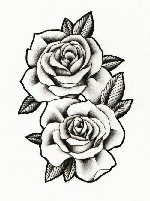 black and grey roses drawing at free for personal use black and grey roses. Black Bedroom Furniture Sets. Home Design Ideas