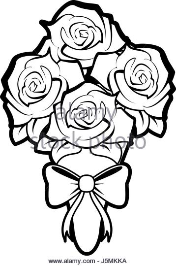 358x540 Romantic Rose Sketch Black And White Stock Photos Amp Images