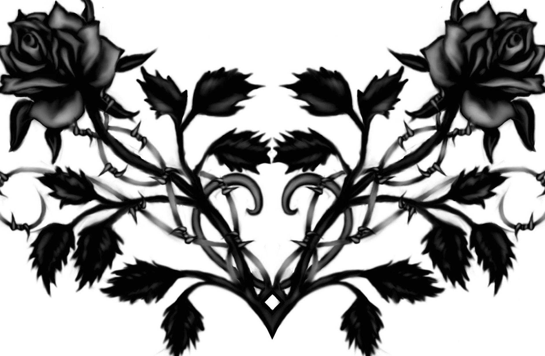 1886x1231 Black And White Rose Tattoo Design Mediwiki