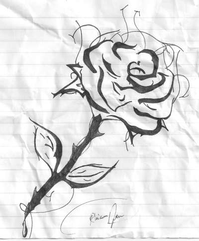 400x485 Black And White Teen Pen Amp Ink About Rose And Black And White