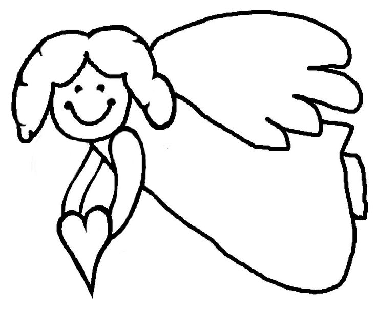 736x603 angel clipart black and white