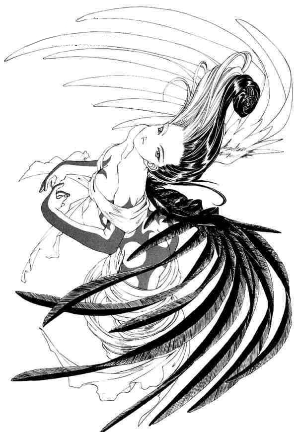 600x870 Black And White Angel By Outlaw Walker