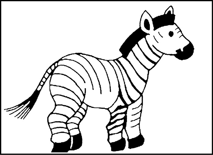 Black And White Animal Drawing