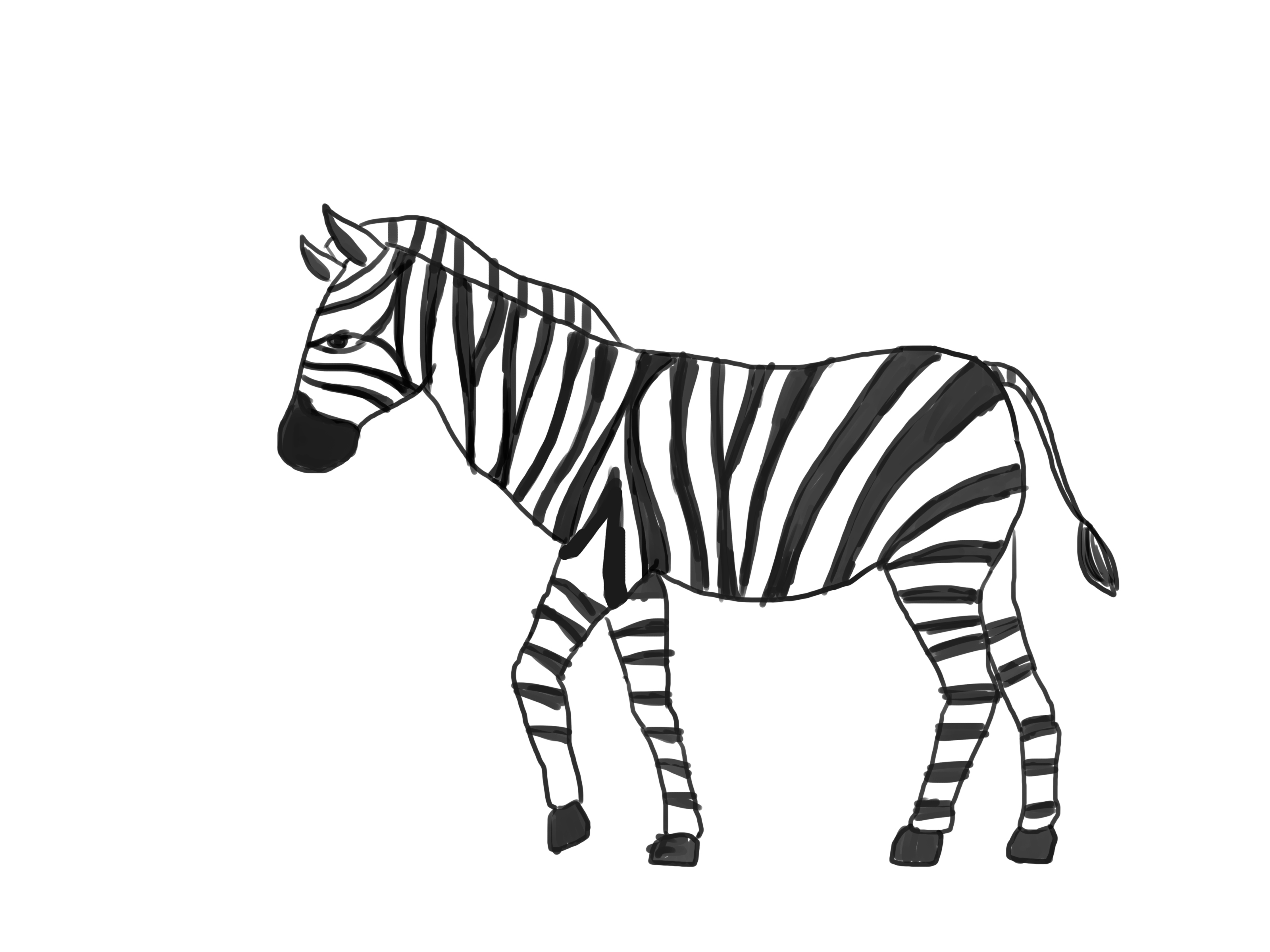 Black And White Animal Drawing At Getdrawings Com Free For