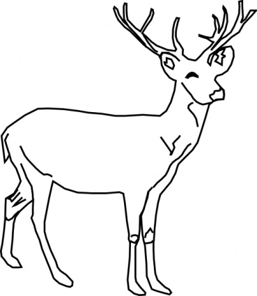 369x425 Clipart Of Animals In Black And White