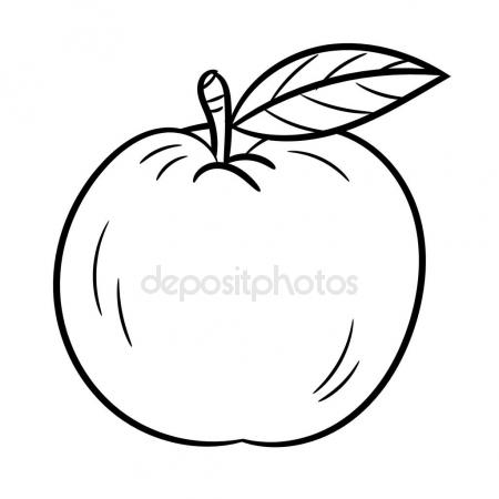 450x450 Hand Drawing An Apple Vector Illustration Stock Vector