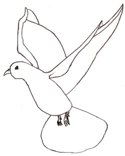 250x312 How To Draw A Dove