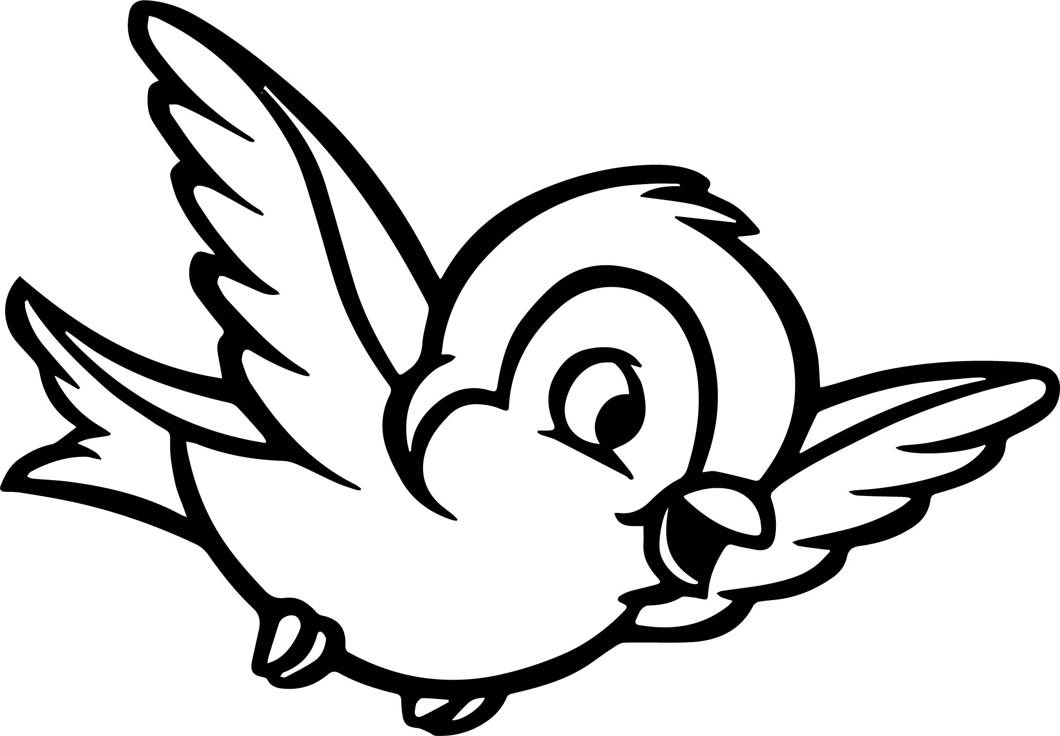 Black And White Bird Drawing at GetDrawings | Free download