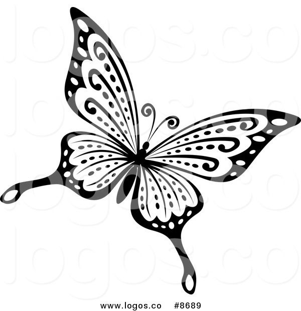600x620 33 Best Black And White Butterfly Tattoo Art Images
