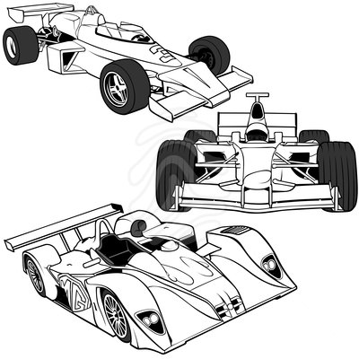 400x400 Race Car Clipart Black And White Cartoon Race Car Pictures Free