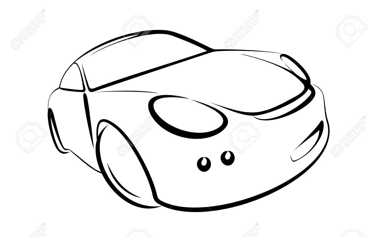 1300x816 Vector Car Black Colour On White Background Royalty Free Cliparts