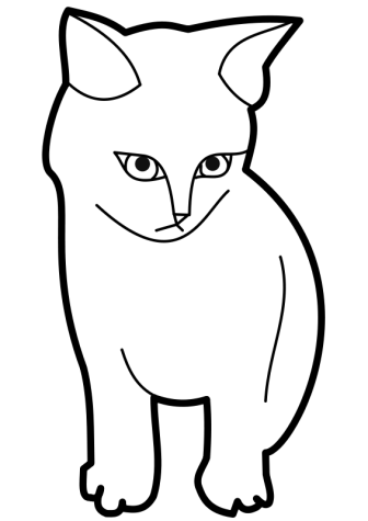 336x475 Cat Black And White Clipart