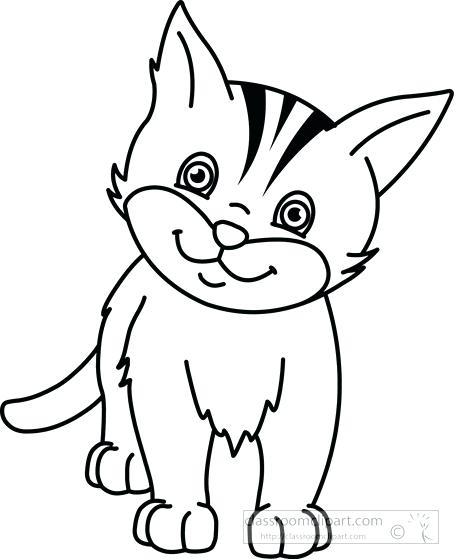 454x559 Cat Clipart White Cat Cat Clipart Black And White Png Memocards.co