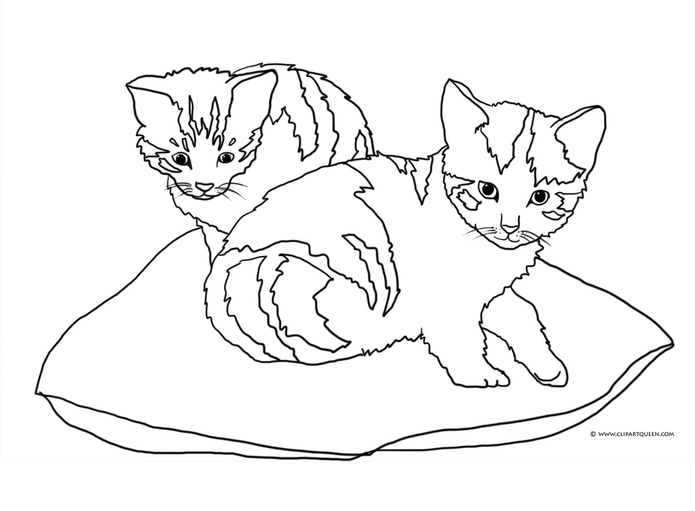 1356x998 Cats Clipart Black And White