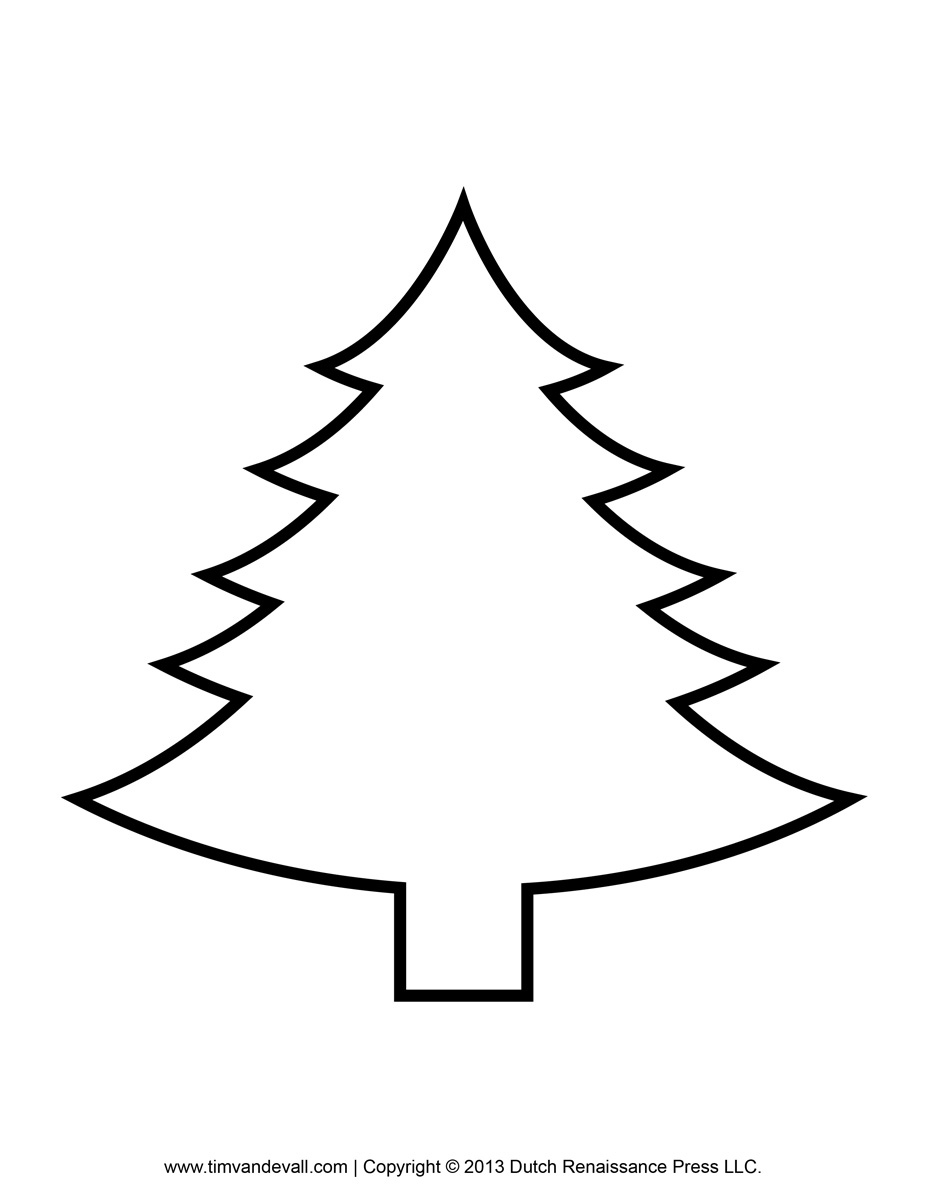 Black And White Christmas Tree Drawing