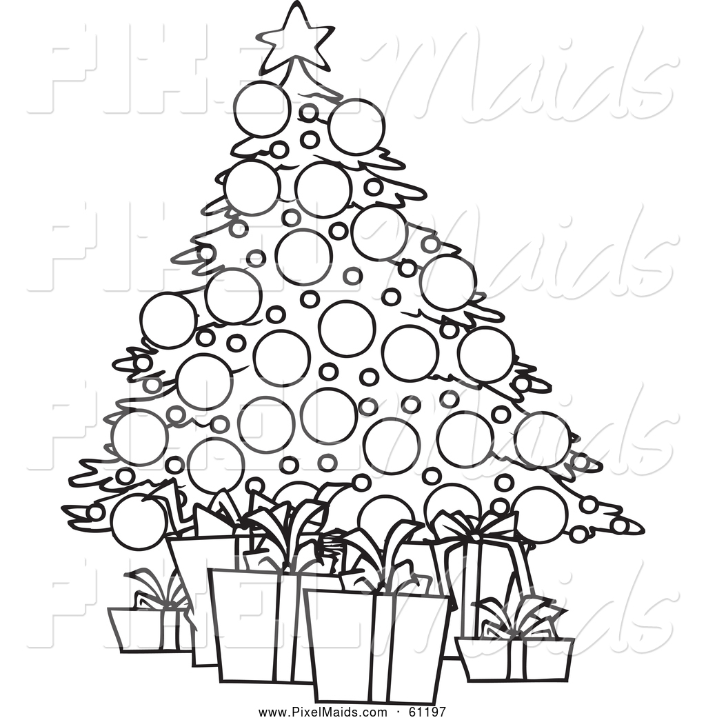 black and white christmas tree drawing at getdrawings com free for rh getdrawings com christmas tree clipart black and white outline christmas tree clipart black and white free