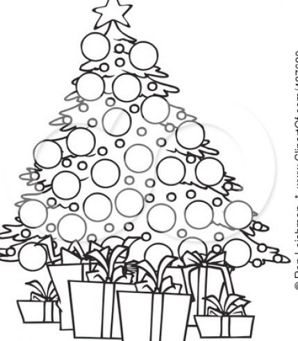 Christmas Images Clipart Black And White.Black And White Christmas Tree Drawing At Getdrawings Com
