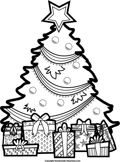 492x662 Black And White Christmas Drawings Merry Christmas And Happy New