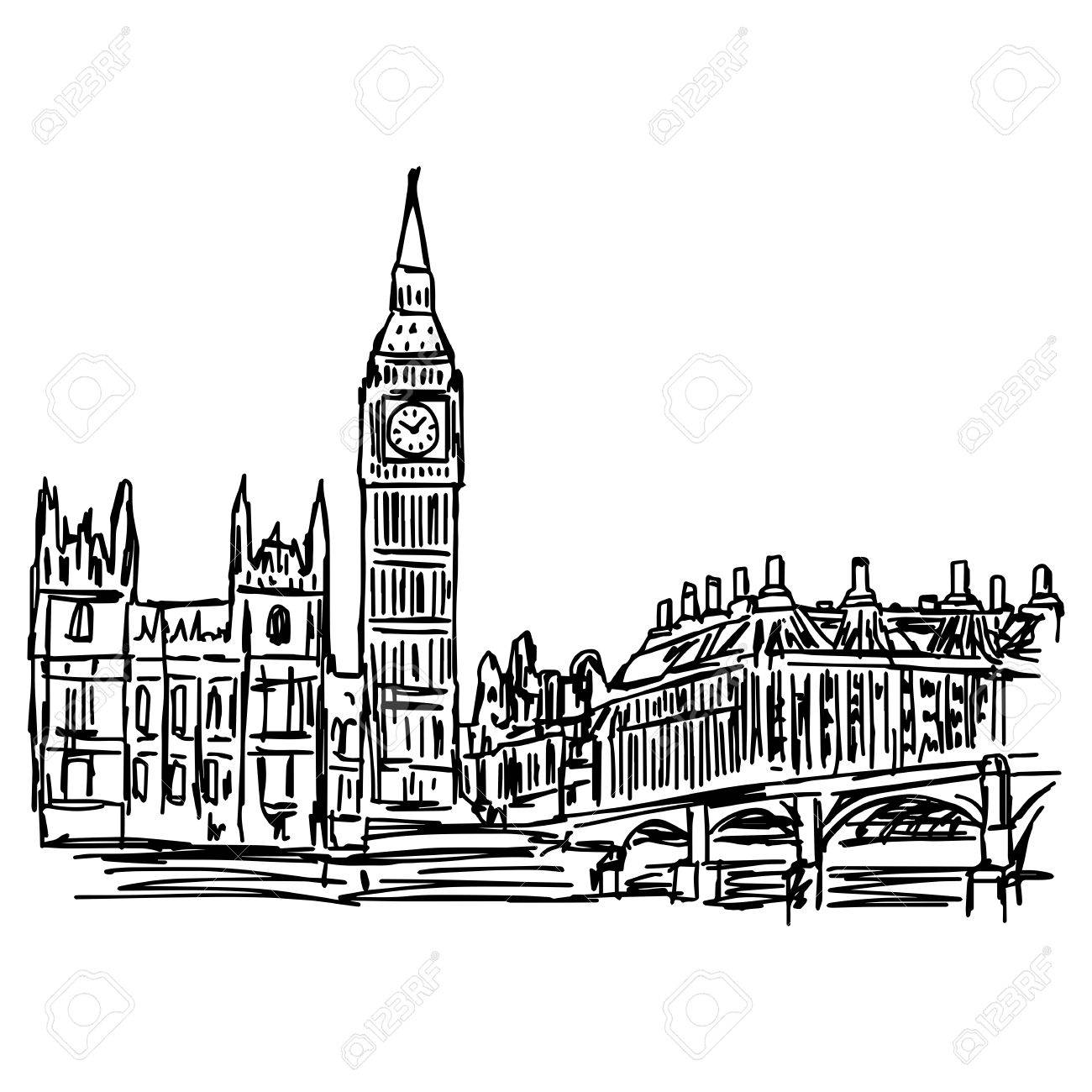 1300x1300 Big Ben And Westminster Bridge In London