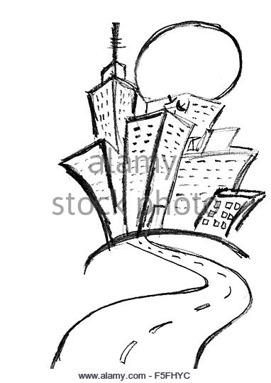 382x540 Pencil Sketch Building Black And White Stock Photos Amp Images