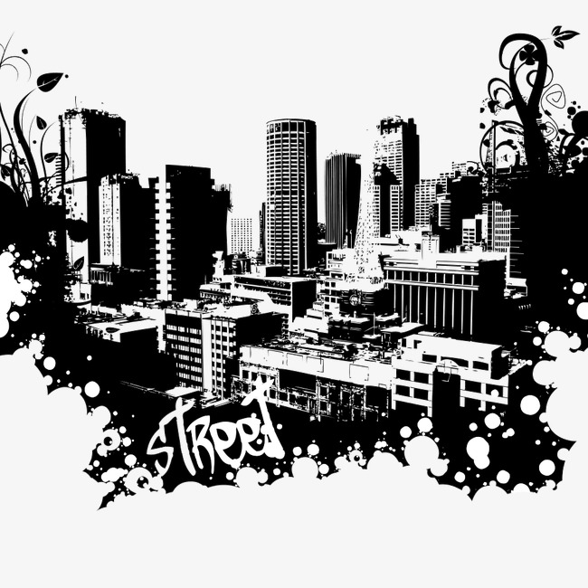 650x650 Silhouette Of City Building, City, High Rise, Building Png Image