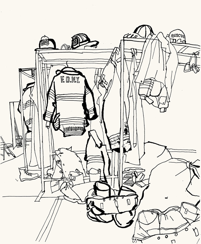 660x800 Lucinda Rogers Ground Zero Line Drawing September 11 New York City
