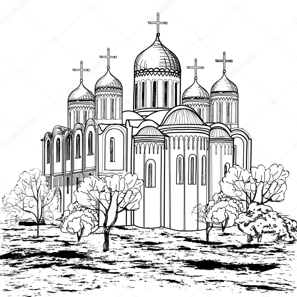 1024x1024 Ancient Russian City Icon Stock Vector Yokodesign
