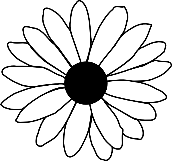 600x562 Daisy Modification Clip Art
