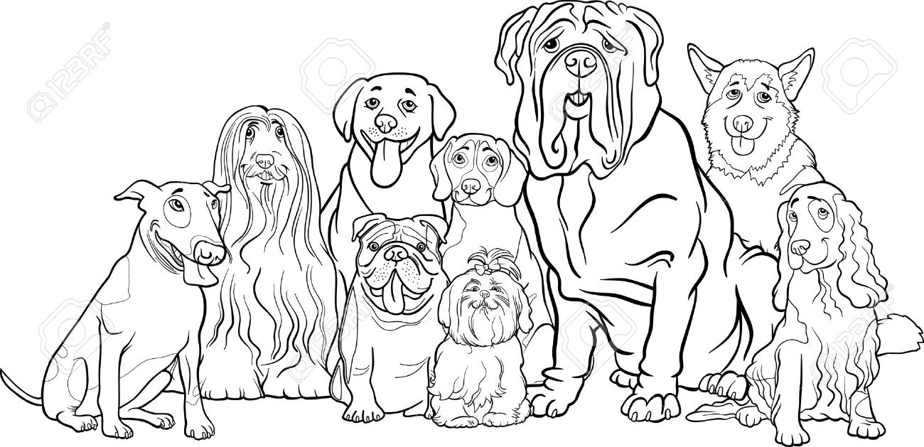 1300x629 Clipart Black White Dog Collection