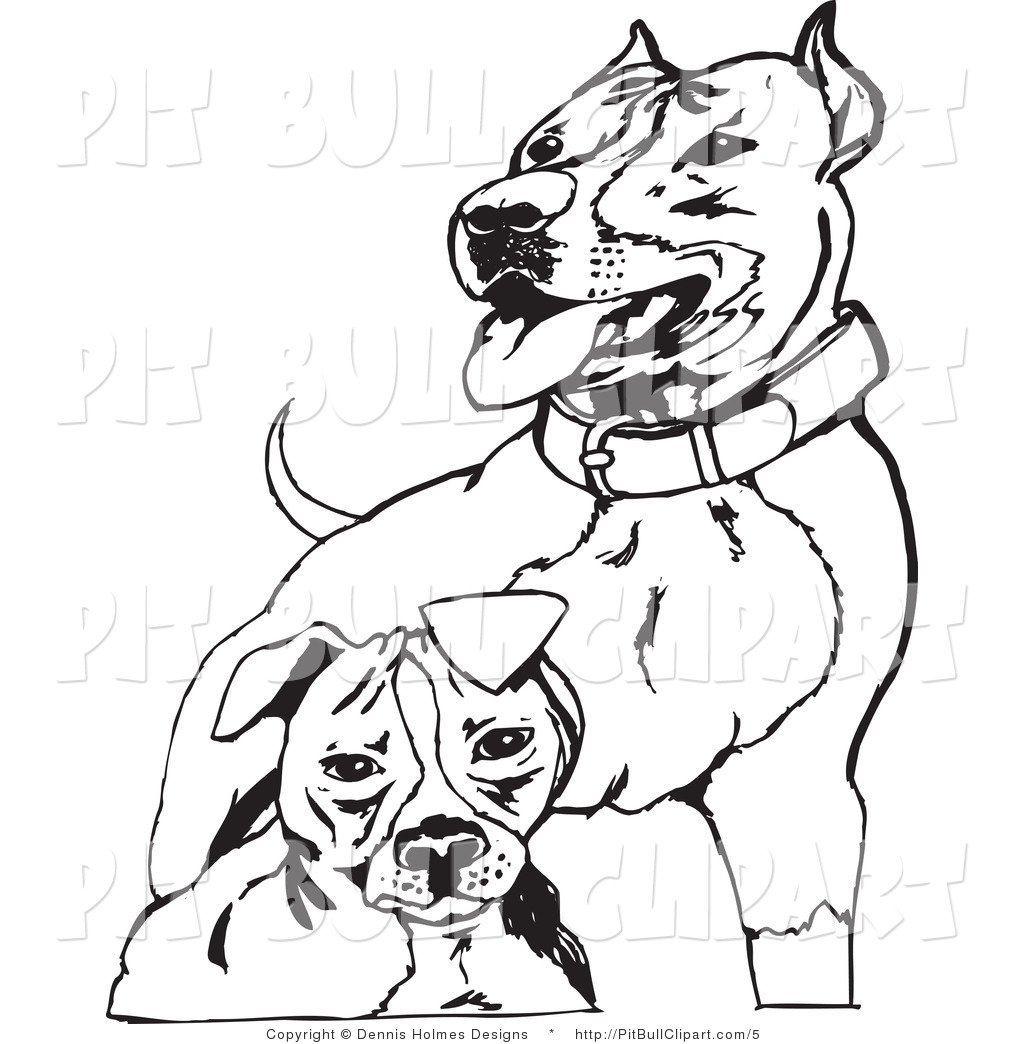 1024x1044 Pit Bull Clipart Black And White