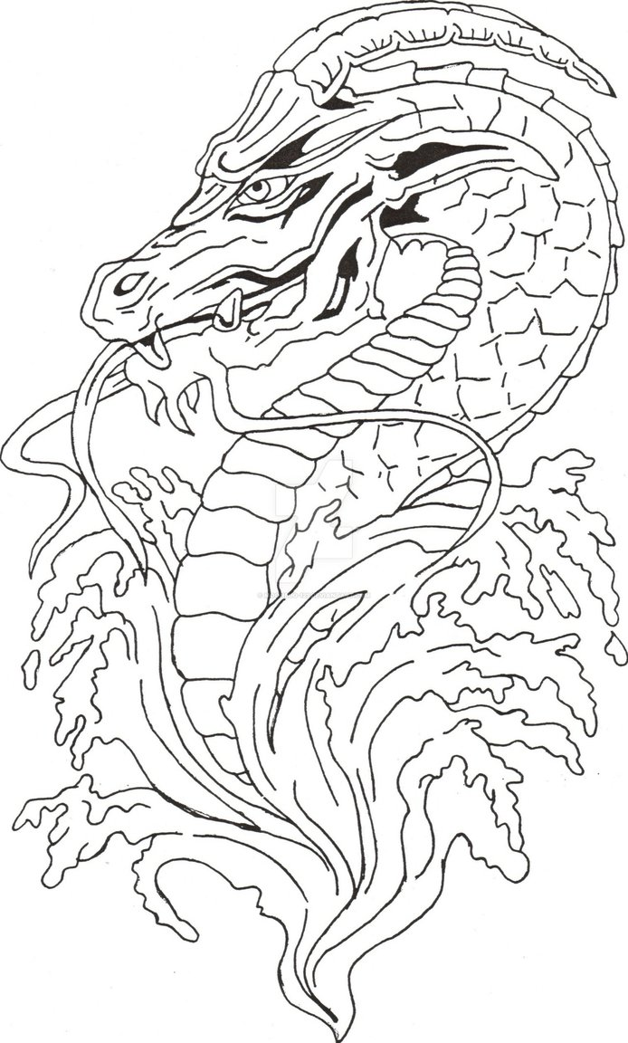 694x1152 Dragon Drawing