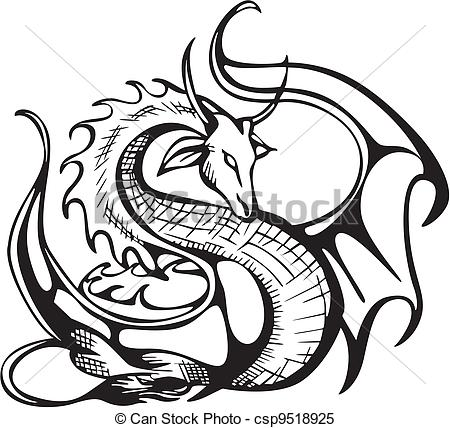 450x428 Dragon Clipart Clipart Dragon Black And White Etch It