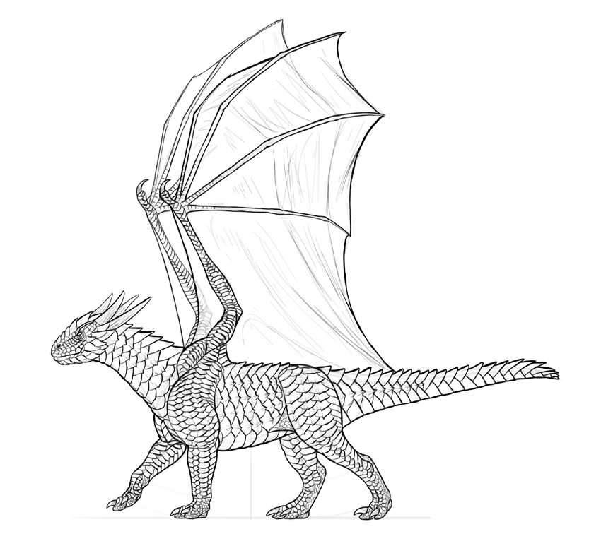 850x773 How To Draw A Dragon Step By Step